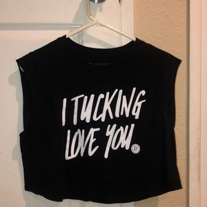 NWT Tucking Love You Pure Barre Crop Top